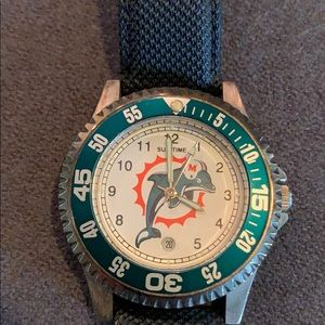 Miami Dolphins NFL Sun Time Watch.